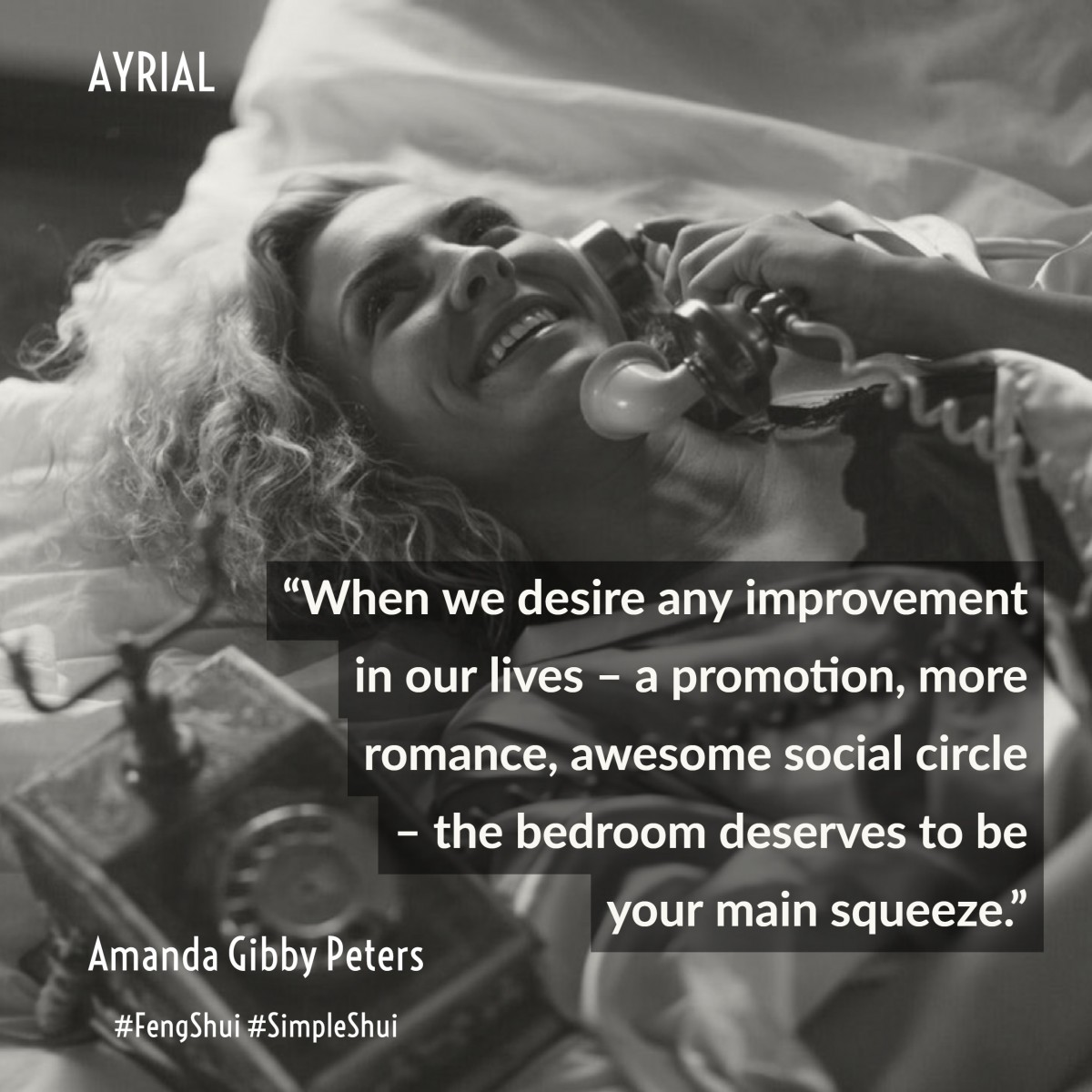 AYRIAL - BEDROOM FENG SHUI BY AMANDA GIBBY PETERS