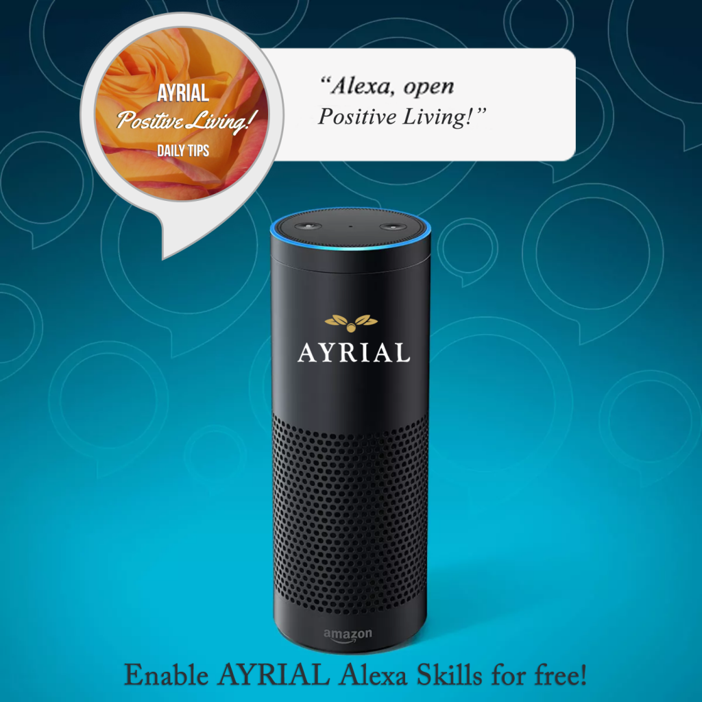 AYRIAL Positive Living Daily Tips ALEXA SKILL