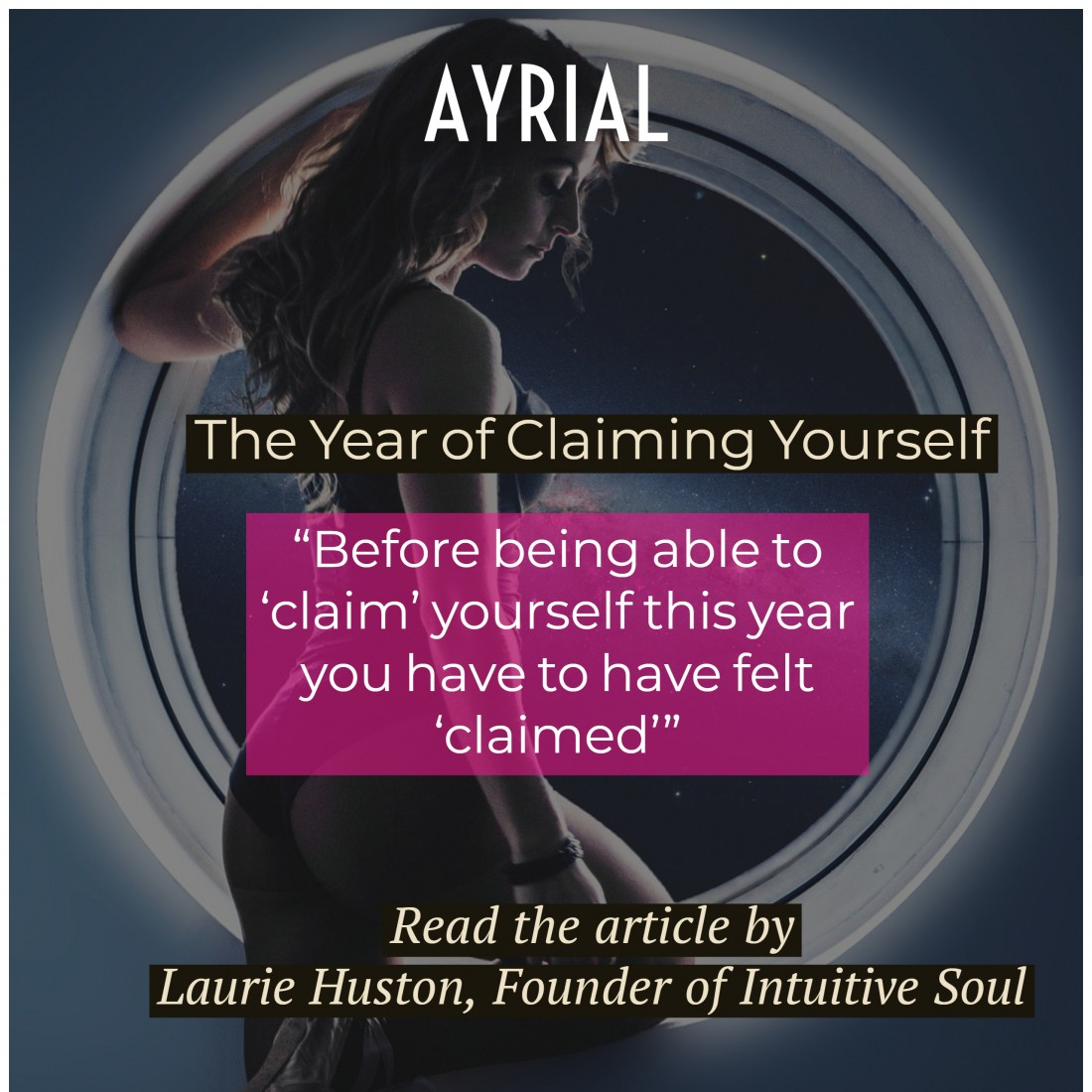 2019 Year of Claiming Yourself Laurie Huston