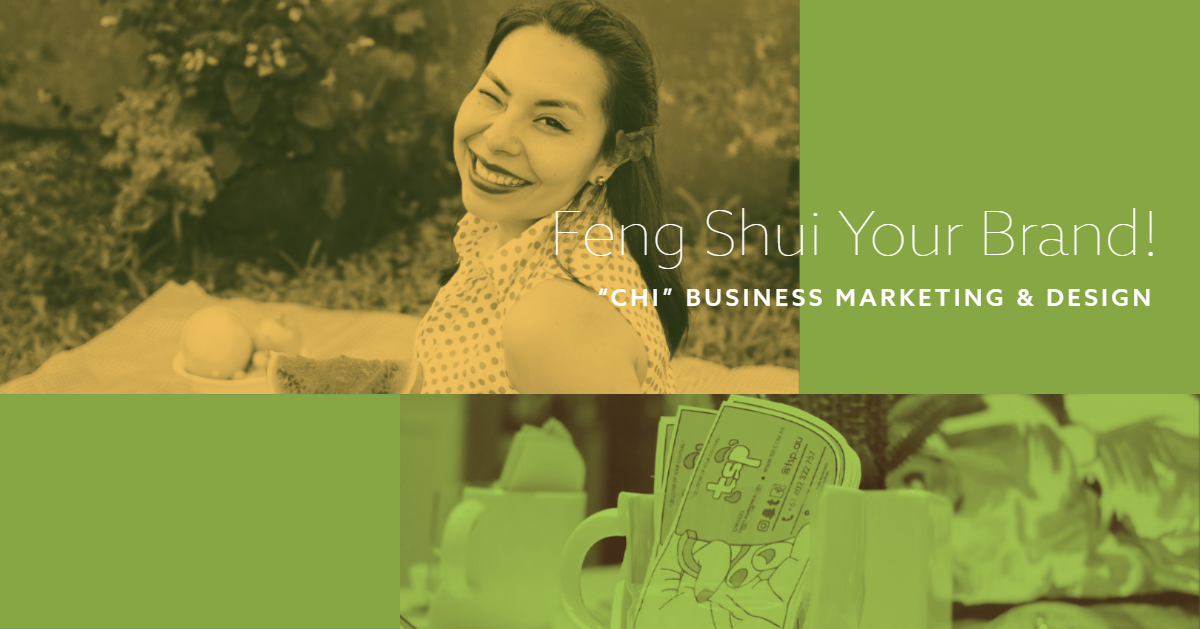 Use feng shui for business card and website design